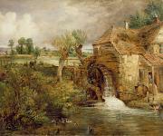 Mill At Gillingham - Dorset Print by John Constable