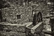 Waterwheel Posters - Mill Creek Water Wheel Poster by Bill Cannon