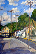 Abstract Realist Landscape Art - Mill Houses North Adams by Thor Wickstrom