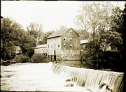 Glass Plate Originals - Mill Pond Dam by Jan Faul