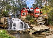 Mill Shoals Falls - Wnc Blue Ridge Waterfalls Print by Dave Allen