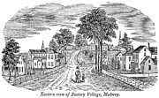 American City Prints - Mill Town: Medway, 1839 Print by Granger