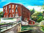 Millbury Paintings - Millbury Mill by Scott Nelson
