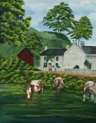 Staffordshire Paintings - Milldale In Staffordshire by Charlotte Blanchard