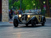 Race Drivers Photos - Mille Miglia Alfa Romeo 6C 1750 Grand Sport by Enrico Luciano