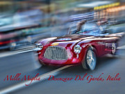 Classic Fiat Digital Art - Mille Miglia Historic Car Race by Enrico Luciano
