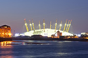 Architectural Detail Framed Prints - Millenium Dome at Night Framed Print by John Harper
