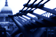 Photography Art Prints - Millennium Bridge Print by Dima Kirlov