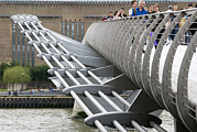 Problem Prints - Millennium Bridge, London Print by Adrian Bicker
