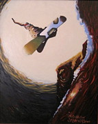 Snowboarding Paintings - Millennium Method by Matthew Stennett
