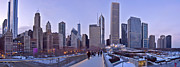 Downtown Photos - Millennium Park in winter by Scott Norris