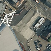 Rugby Union Art - Millennium Stadium Car Park, Aerial View by Getmapping Plc