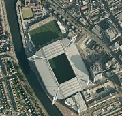 Rugby Union Art - Millennium Stadium, Cardiff,aerial View by Getmapping Plc