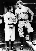 Yankees Prints - Miller Huggins, And Babe Ruth, Circa Print by Everett
