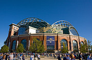 Milwaukee Brewers Prints - Miller Park Milwaukee Print by Steve Sturgill