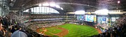 Cubs Baseball Park Prints - Miller Park Panorama Print by Drew Domkus