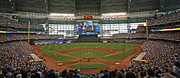 League Photo Metal Prints - Miller Park Metal Print by Steve Sturgill