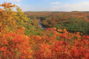 """autumn Foliage New England"" Prints - Millers River Valley in Autumn Print by John Burk"