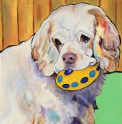 Acrylic Dog Paintings - Millie by Pat Saunders-White            