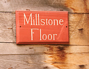 Sudbury Ma Photos - Millstone Floor Sign by Stephanie Nugent