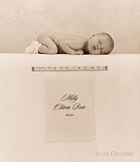 Sepia Tone Framed Prints - Milly Olivia Rose Framed Print by Anne Geddes