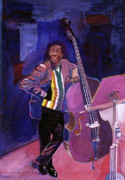 Jazz-stars Framed Prints - Milt Hinton Jazz Bass Framed Print by David Lloyd Glover