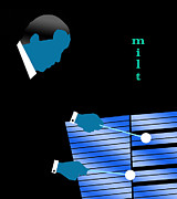 Quartet Digital Art Posters - Milt Jackson Blue Poster by Victor Bailey