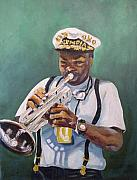 New Orleans Oil Painting Originals - Milton Baptiste by Beverly Boulet