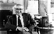 1980s Portraits Framed Prints - Milton Friedman, 1980© Csu Framed Print by Everett