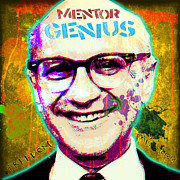 Veteran Photography Posters - Milton Friedman Poster by Gary Grayson
