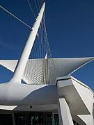 Art Museum Photo Prints - Milwaukee Art Museum cropped Print by Anita Burgermeister
