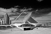 Milwaukee Prints - Milwaukee Art Museum Infrared Print by Steve Sturgill