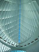 Art Museum Photo Prints - Milwaukee Art Museum interior Print by Anita Burgermeister