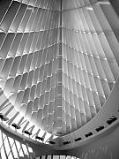Comtemporary Prints - Milwaukee Art Museum interior b-w Print by Anita Burgermeister
