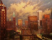 City Scene Paintings - Milwaukee My Hometown by Tom Shropshire