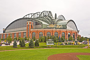 League Photo Metal Prints - Milwaukees Miller Park Metal Print by Steve Sturgill