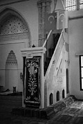 Ammochostos Prints - Mimbar Pulpit In Lala Mustafa Pasha Mosque Print by Joe Fox