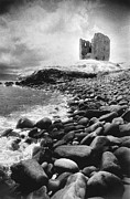 Eerie Framed Prints - Minard Castle Framed Print by Simon Marsden