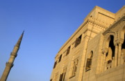Mosque Photos - Minaret and exterior of the Al-Hussein Mosque by Sami Sarkis