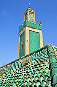 Tile Prints - Minaret Of Grand Mosque Print by Kelly Cheng Travel Photography