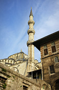 Religious Structure Prints - Minaret of the Blue Mosque Print by Artur Bogacki