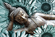 Modern Buddhist Art Art - Mind Bloom by Christopher Beikmann