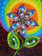 Eyes Glass Art - Mind Eyes by Gabriela Stavar