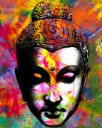 Buddha Digital Art Posters - Mind Poster by Ramneek Narang