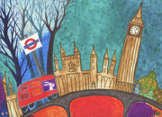 Cityscape Drawings - Mind the Gap by Kate Cosgrove