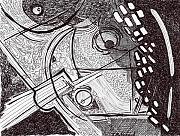 Thought Drawings - Minds Eye View by Todd  Peterson