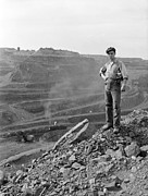 Large Scale Photo Prints - Miner John Palumbo, Jr. 1921-2008 Print by Everett