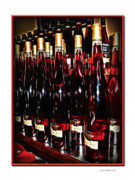 Sparkling Wines Photo Prints - Miner Pink Sparkling Wine Print by Joan  Minchak