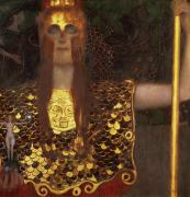 1918 Metal Prints - Minerva Metal Print by Gustav Klimt