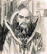 Serial Drawings Framed Prints - Ming the Merciless Framed Print by Mel Thompson